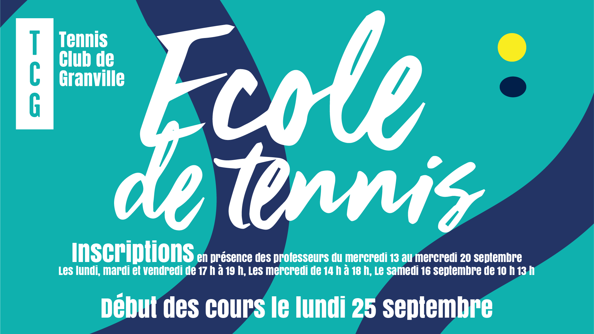 Inscriptions école de tennis